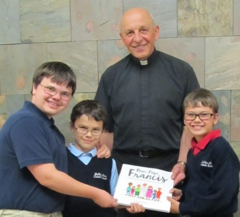 DCC Receives Book about Pope Francis as a Memorial