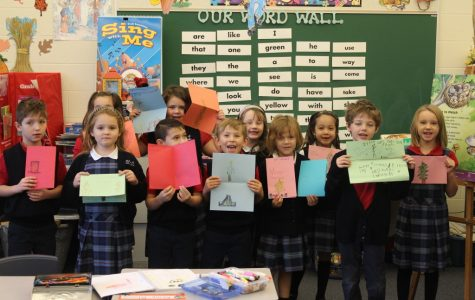 DCC First Grade Celebrates Birthday with Cards for the Military