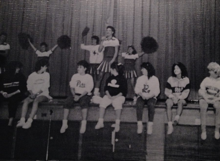 The+seniors+of+1988+performed+a+lip+sync+to+%22True+To+Your+School%22.