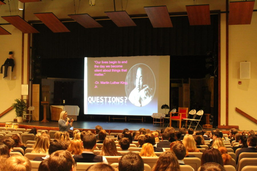 DCC Students Learn How To Be Safe During Passages Presentation