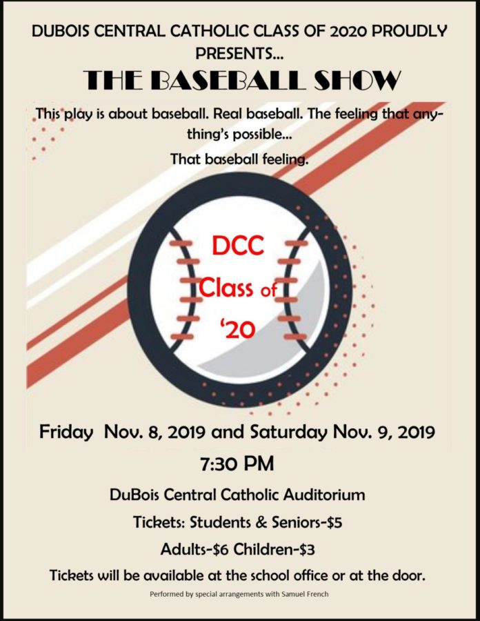 Save+the+Date+-+Senior+Class+Play+-+The+Baseball+Show+to+be+Held+in+November