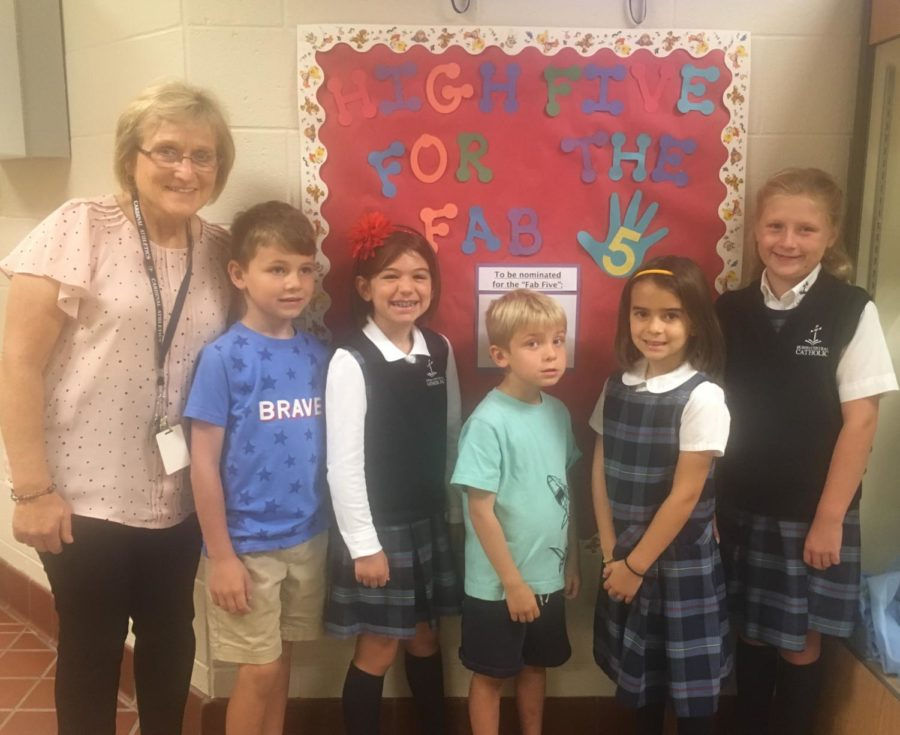 DCC Elementary Recognizes the First Fab Five of the Year
