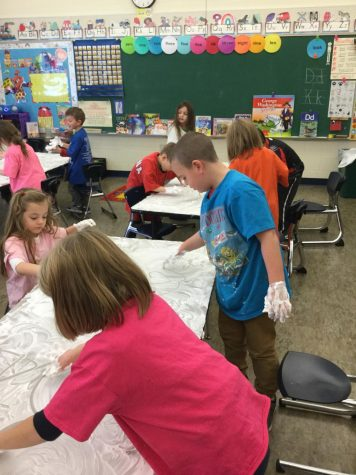 DCC Kindergarten Learns Sight Words Using Shaving Cream