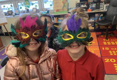 Elementary Classes Celebrate Mardi Gras