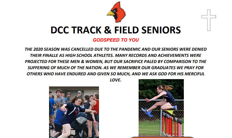 DCC Track and Field Celebrates the Seniors of 2020