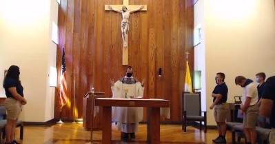 DCC Celebrates Mass During the Pandemic