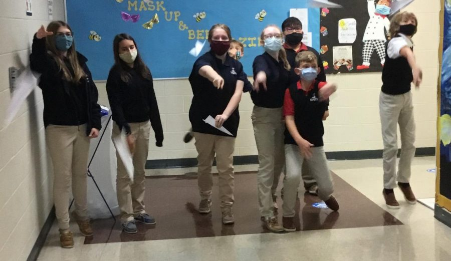 """DCC 6th Graders Learning """"Takes Off"""" in Hands-on Math Lesson"""